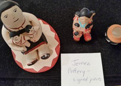 Jemez pottery signed